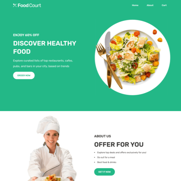 Greenlet food template