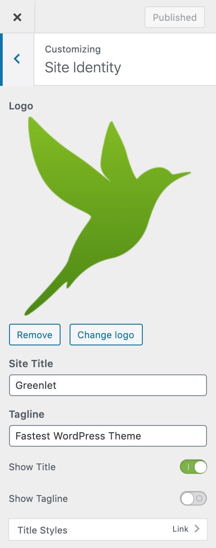 Logo Title and Tagline