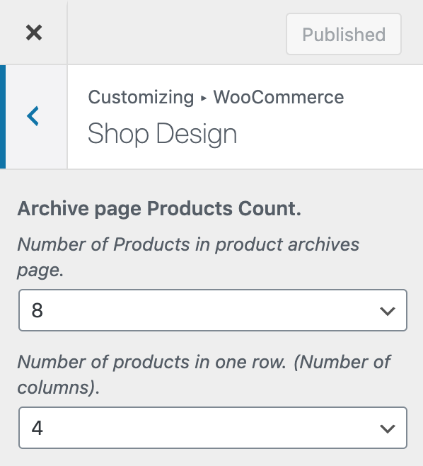 Woocommerce Shop Design